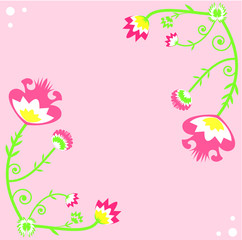 Folk floral background