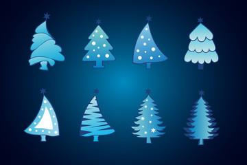 Christmas tree set of background