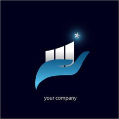 logo entreprise, finance