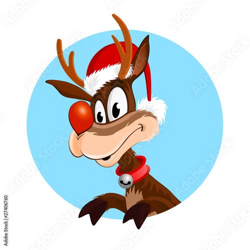 Rudolph La Renna Di Babbo Natale.Rudolph La Renna Di Babbo Natale Stock Photo And Royalty Free