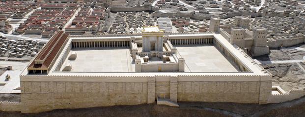 Fotobehang Bedehuis Second Temple of Jerusalem Model