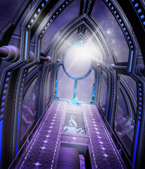Futurystyczny korytarz