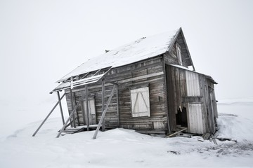 Old abandoned, wooden building