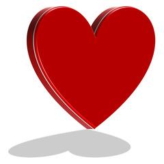 rotes Herz mit Schatten