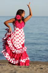 Dancing andalusian woman
