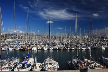 Yachthafen in Barcelona