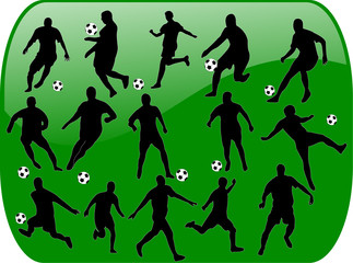 football with background - vector