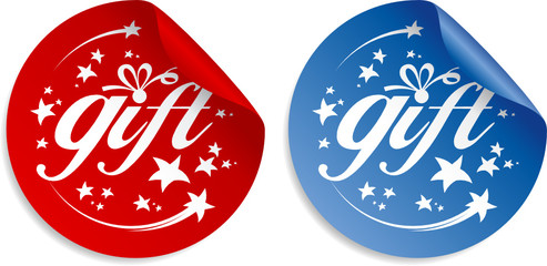 Gift stickers, holidays set.