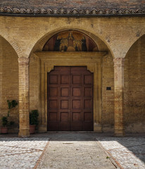St.Illuminata Portal Church. Montefalco. Umbria.