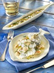 plie à la sauce aux crevettes - platessa -