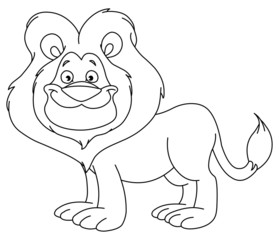 Outlined lion