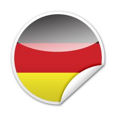 Pegatina bandera Alemania con reborde