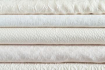 Stack of white textiles