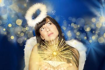 schöner engel weiß heilig