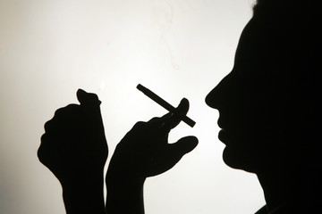 Smoking silhouette