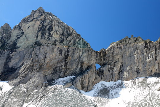 mountain formation of Tschingelhörner with Martins hole
