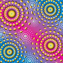 Wall Murals Psychedelic Riotous Ripples (motion illusion)