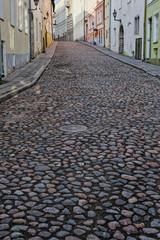 Along street