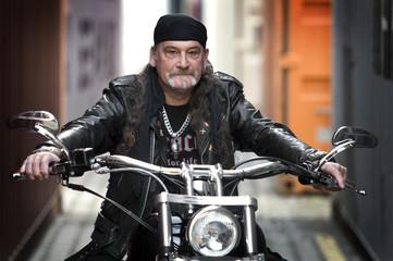 Cool old biker