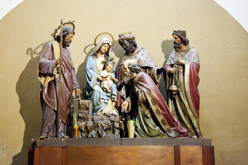 scene of the Nativity, Adoration of the Magi