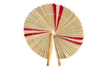 The fan by hand.