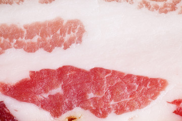 detail of smoked bacon