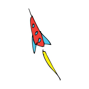 drawing of a rocket
