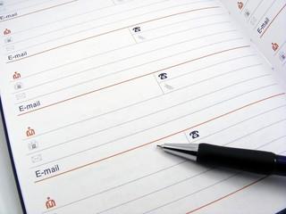 Address book & pen - copy space