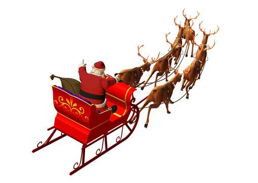 Weihnachtsgespann auf weissem Hintergrund
