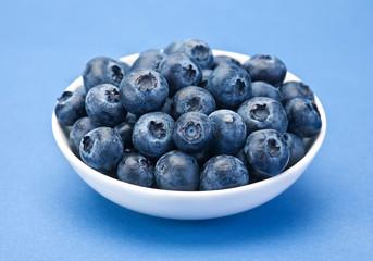 Blueberry berry closeup