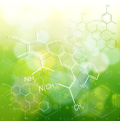 ecology background: chemical formulas