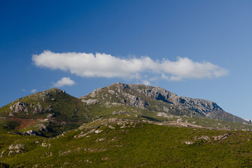 Montagne Corse au dessus de Bastia