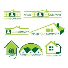 house logo set