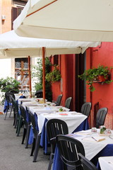 Typical restaurant in Rome (Italy)