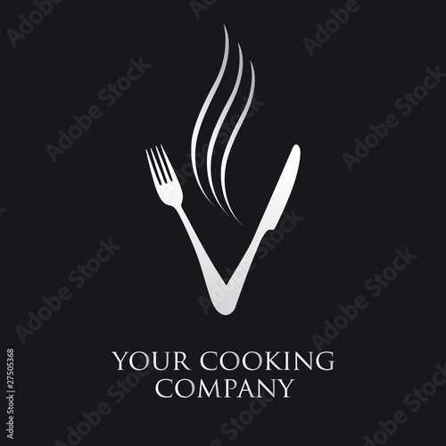 logo entreprise logo cuisine fourchette couteau fichier vectoriel libre de droits sur la. Black Bedroom Furniture Sets. Home Design Ideas