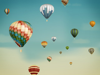 heißluftballons im traum