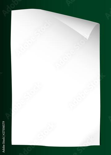 leeres blatt papier mit gr nem hintergrund stockfotos und lizenzfreie vektoren auf. Black Bedroom Furniture Sets. Home Design Ideas