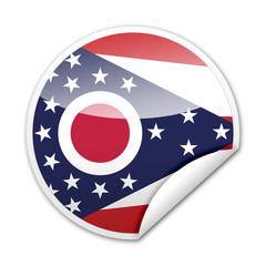 Pegatina bandera Ohio con reborde