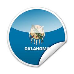 Pegatina bandera Oklahoma con reborde