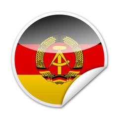 Pegatina bandera Republica Democratica Alemana con reborde