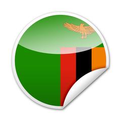 Pegatina bandera Zambia con reborde