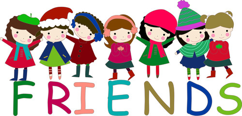 friends word and children