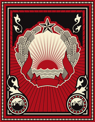 Soviet style poster