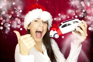 Daumen hoch Auto als Geschenk