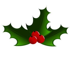 Christmas symbol holly berry