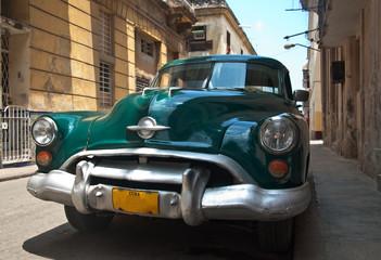 Garden Poster Cars from Cuba Retro car in Cuba