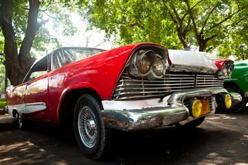 Türaufkleber Autos aus Kuba Retro car in Cuba