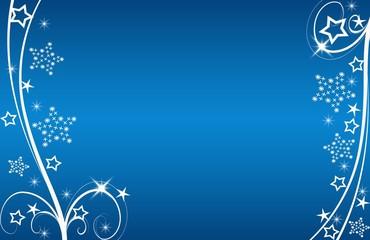 Christmas,xmas, Weichnachten, Sterne, blumen,  blau, weiss