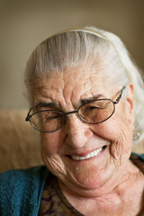 big smile from grandmother