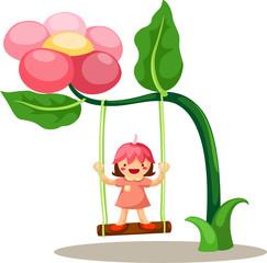 little fairy on swing